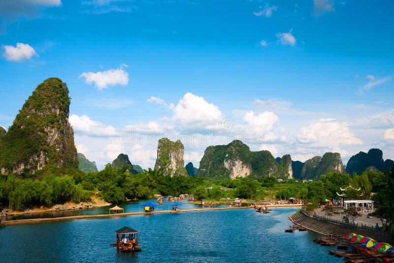 Rio de Yulong em Guilin imagem de stock