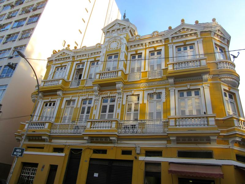 Rio deeds office. From my trip to Brazil 2016. This is a nice building at the corner of Sao Jose and Dom Manuel, Rio de Janeiro. I believe this is a deeds royalty free stock photography