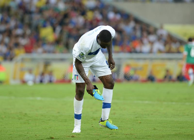 Italia Balotelli national team soccer player. Rio deJaneiro - Brazil  Italia Balotelli national team soccer player during match between Italia and Mexico at stock photography