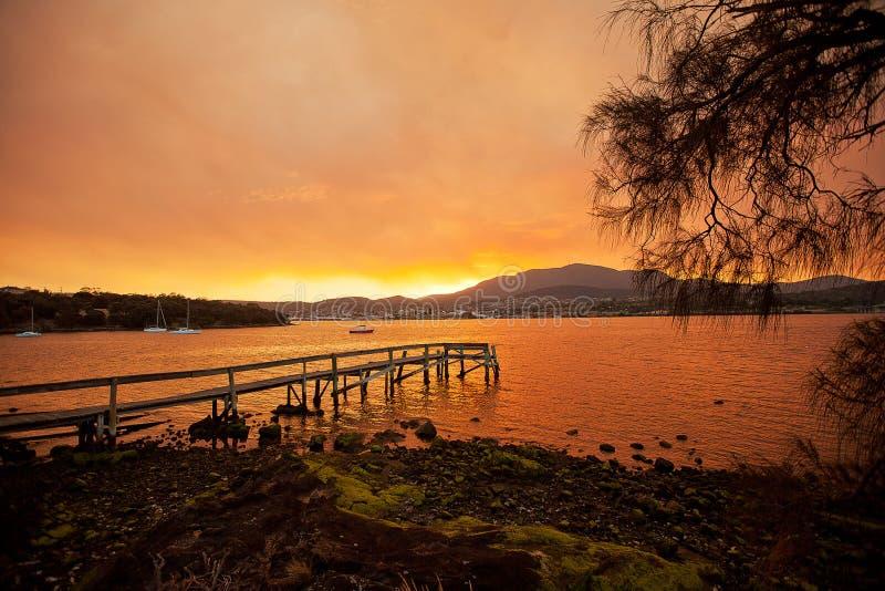 Rio Derwent Hobart fotografia de stock royalty free