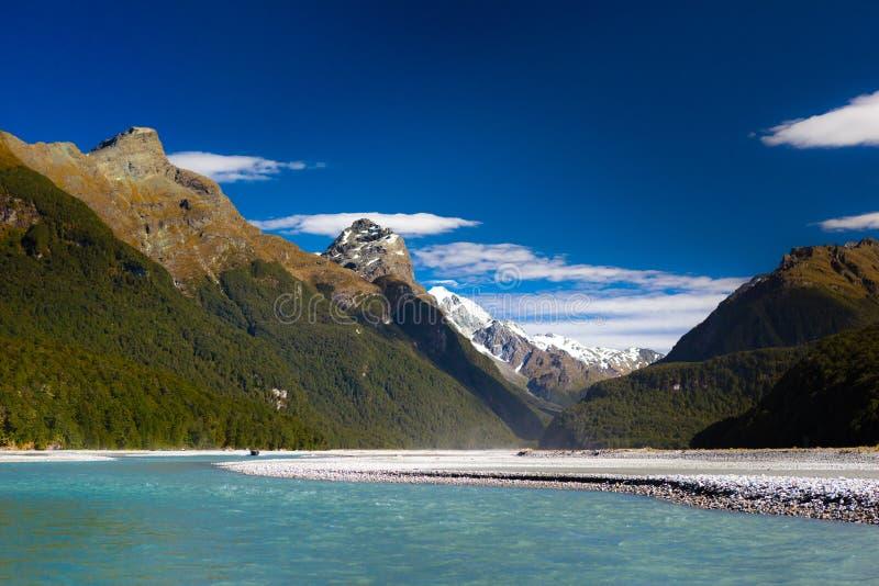Rio do dardo, Glenorchy, Nova Zelândia fotos de stock royalty free