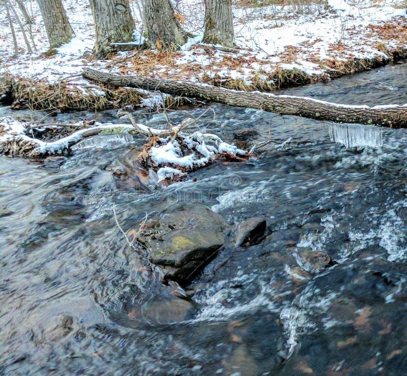 Rio do inverno imagem de stock