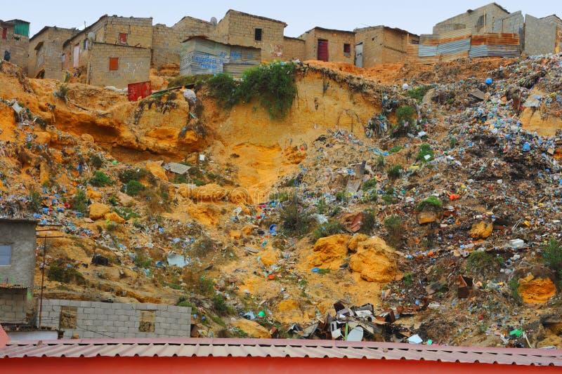 Rio do lixo foto de stock royalty free