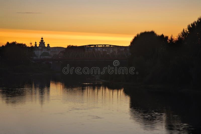 Rio do Sylva em Kungur Perm Krai Rússia imagens de stock