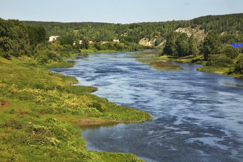 Rio do Sylva em Kungur Perm Krai Rússia imagens de stock royalty free