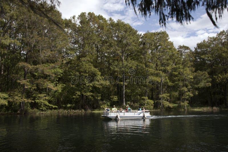 Rio Dunnellon Florida EUA do arco-íris fotos de stock
