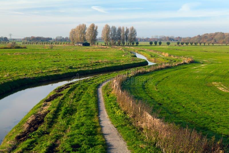 Rio em campos holandeses imagens de stock royalty free