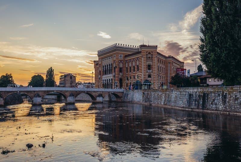 Rio em Sarajevo fotografia de stock