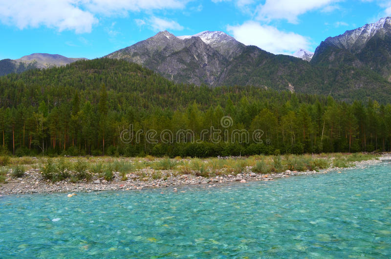 Rio frio Shumak da montanha foto de stock royalty free