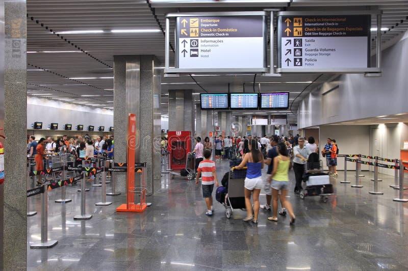 Rio Galeao airport stock image