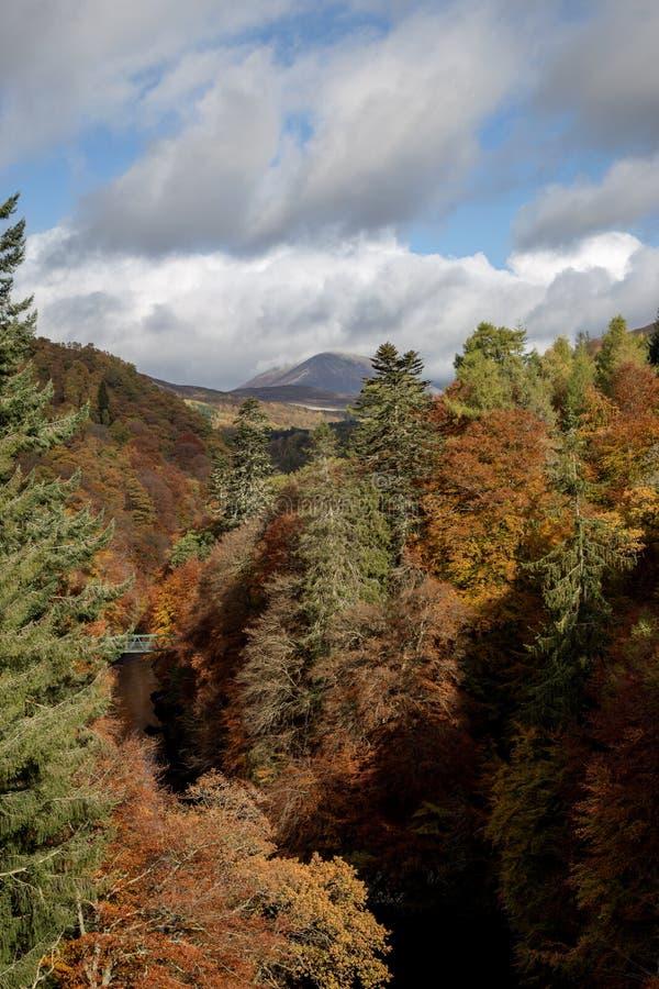 Rio Garry em Pitlochry Perthshire Escócia no outono foto de stock