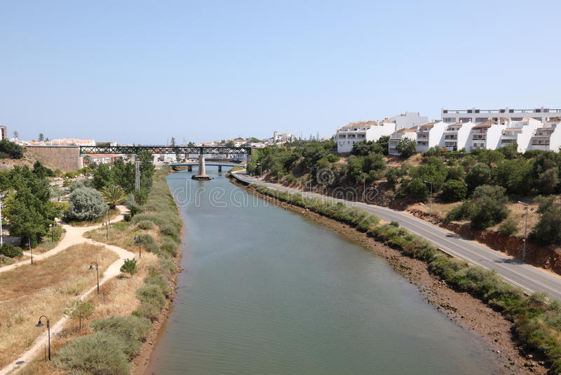 Rio Gilao perto de Tavira, Portugal foto de stock royalty free