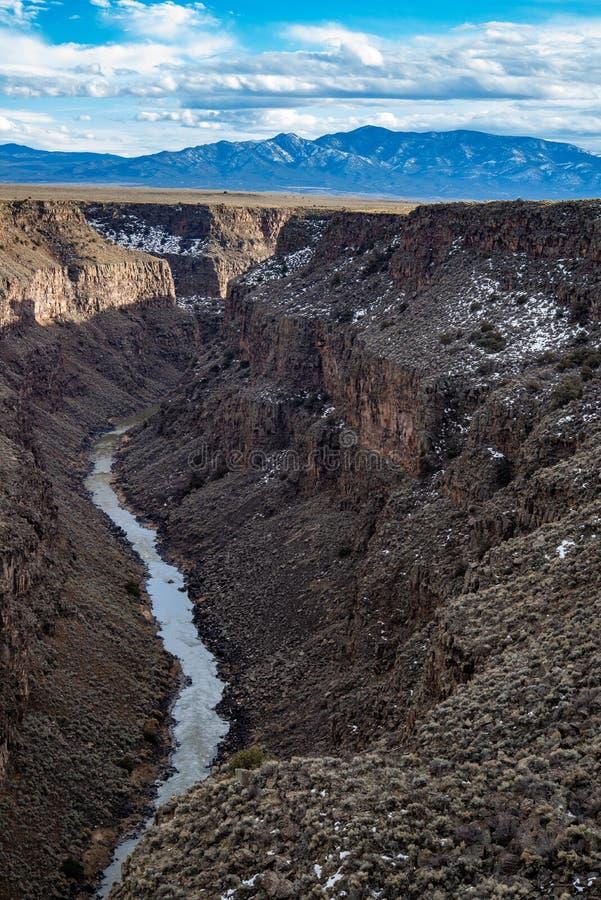 Rio grand gorge bridge taos new mexico stock images