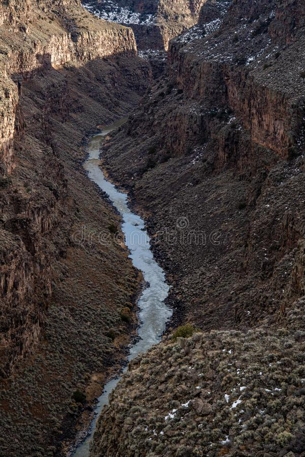 Rio grand gorge bridge taos new mexico royalty free stock image
