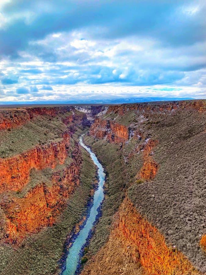 Rio Grand Gorge Taos, nanômetro fotografia de stock royalty free