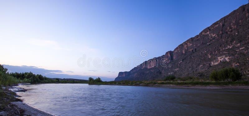 Rio Grand river at sunrise stock photo