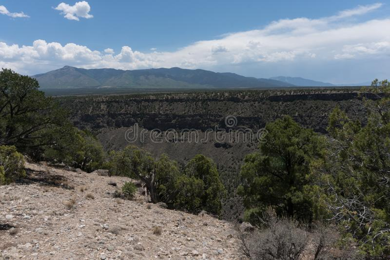 Rio Grande Del Norte National Monument view. royalty free stock photo