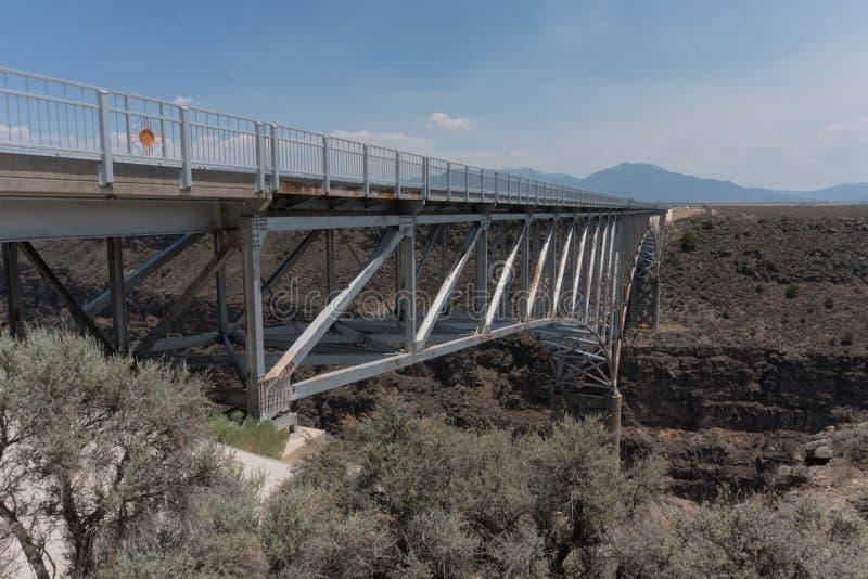Rio Grande-dichte omhooggaand van de kloofbrug royalty-vrije stock fotografie