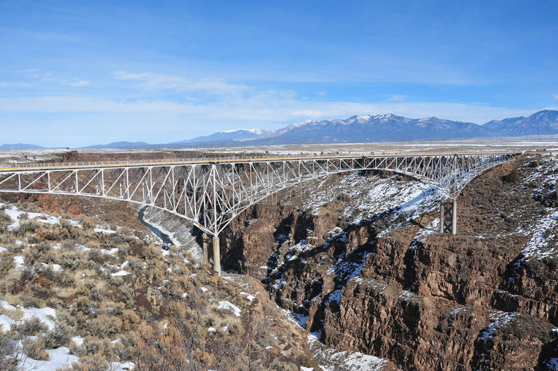 Rio Grande Gorge Bridge. The Rio Grande Gorge Bridge, locally known as the Gorge Bridge,. Located neat Taos in New Mexico royalty free stock photography