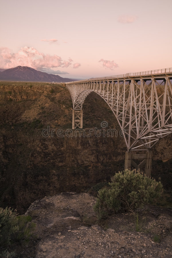 Rio Grande Gorge Bridge. New Mexico stock photo