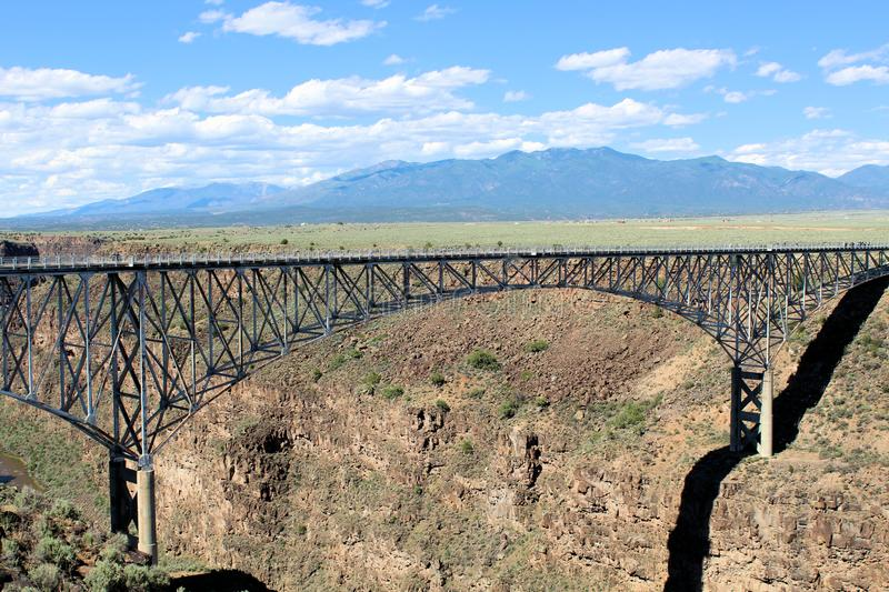 Rio Grande Gorge Bridge. The Rio Grande Gorge Bridge, aka the Gorge Bridge or High Bridge. Located 10 miles NW of Taos, NM it is the tenth highest bridge in the royalty free stock images