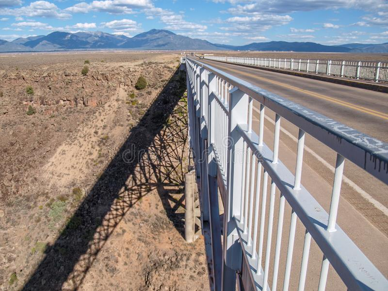 Rio Grande Gorge Bridge in New Mexico. The Rio Grande Gorge Bridge is a steel deck arch bridge across the Rio Grande Gorge northwest of Taos, New Mexico. Roughly royalty free stock images