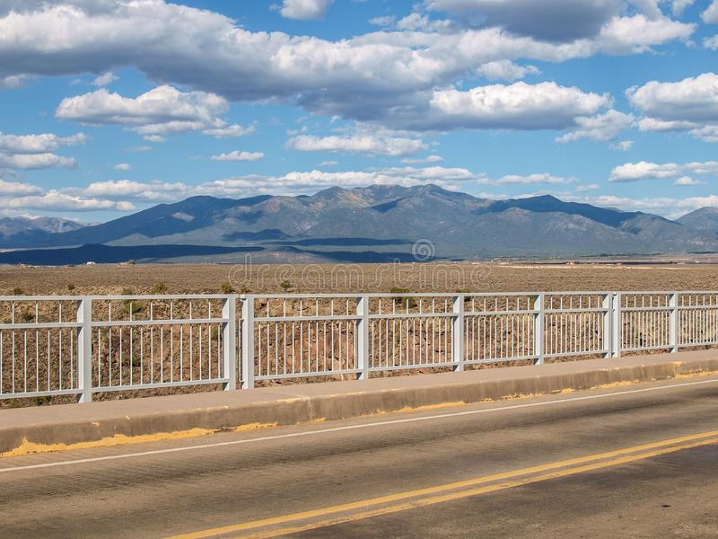 Rio Grande Gorge Bridge in New Mexico. The Rio Grande Gorge Bridge is a steel deck arch bridge across the Rio Grande Gorge northwest of Taos, New Mexico. Roughly royalty free stock photo