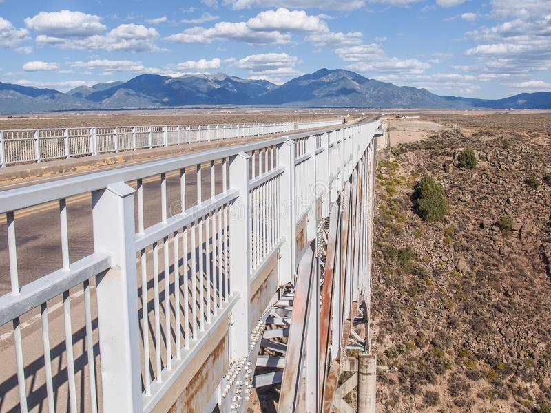 Rio Grande Gorge Bridge in New Mexico. The Rio Grande Gorge Bridge is a steel deck arch bridge across the Rio Grande Gorge northwest of Taos, New Mexico. Roughly royalty free stock photography