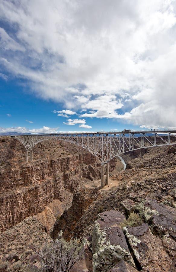 Rio Grande Gorge Bridge in Taos County, New Mexico stock image
