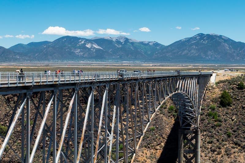 Rio Grande Gorge Bridge, vicino a Taos, il New Mexico fotografia stock libera da diritti