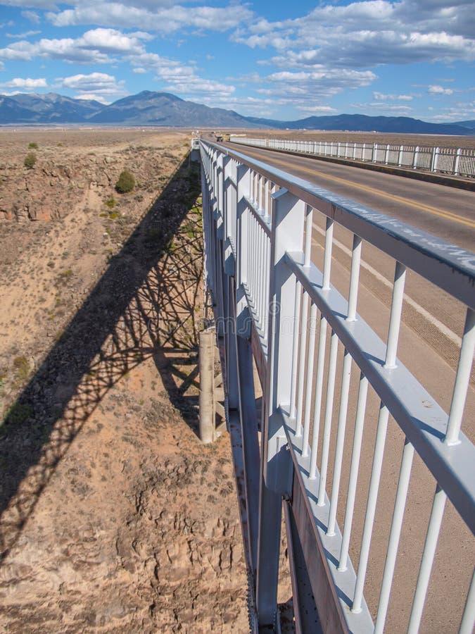 Rio Grande Gorge-brug in New Mexico stock foto's