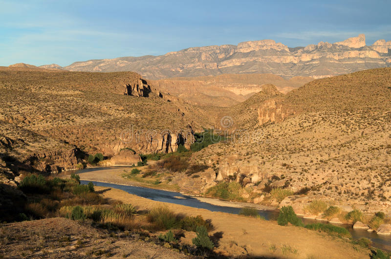 Rio Grande Landscape royalty-vrije stock afbeelding