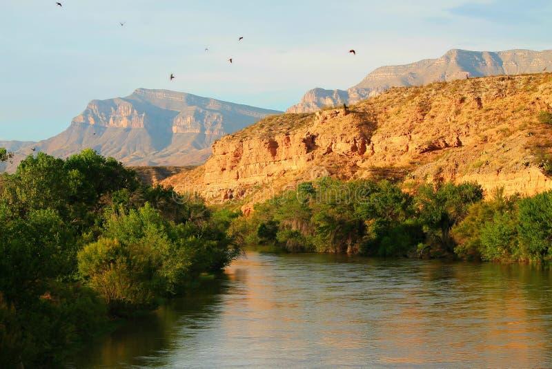 The Rio Grande. Photo of The Rio Grande in New Mexico, a river that flows from Colorado to New Mexico stock photo