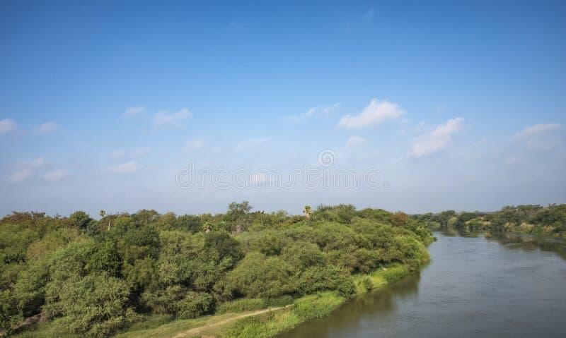 Rio Grande river Texas Mexico border. Rio Grande river on the border between United States and Mexico in Texas royalty free stock photos