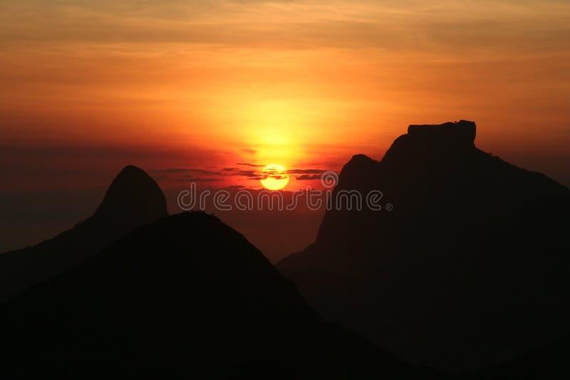 rio jest zachód słońca obraz royalty free