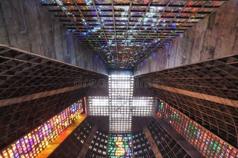 Rio-Kathedrale stockfotos