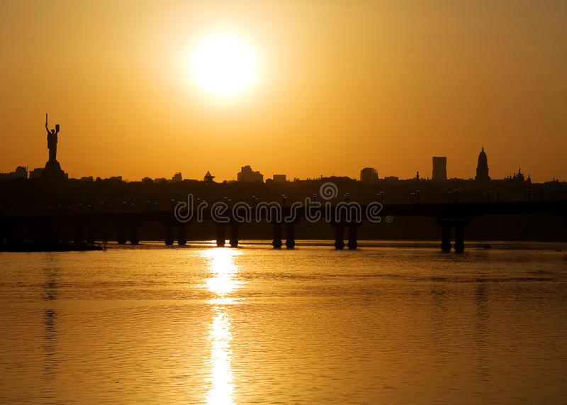 Rio Kiev de Dnepro foto de stock