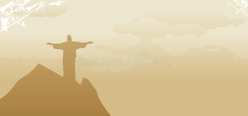 Rio linia horyzontu De Janeiro ilustracja wektor
