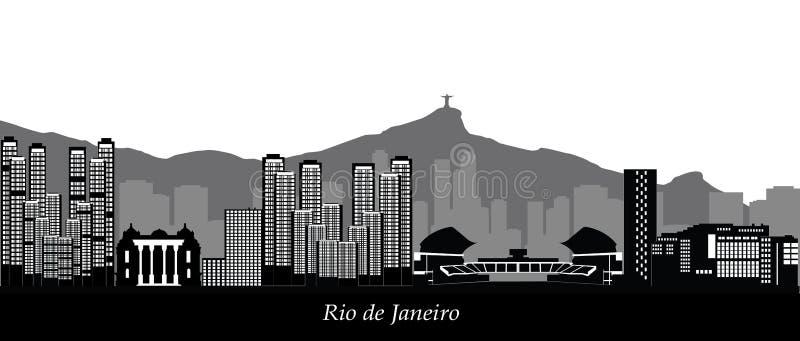 Rio linia horyzontu De Janeiro royalty ilustracja