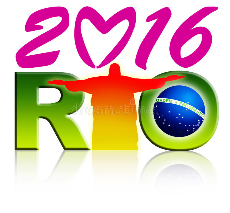 Rio Logo royaltyfri illustrationer