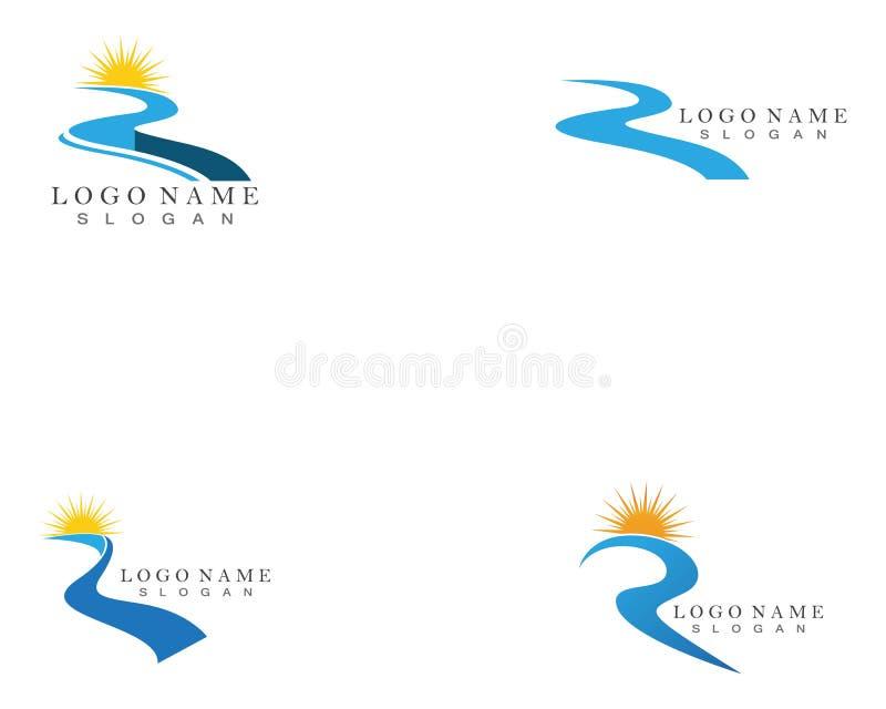 Rio Logo Template ilustração stock