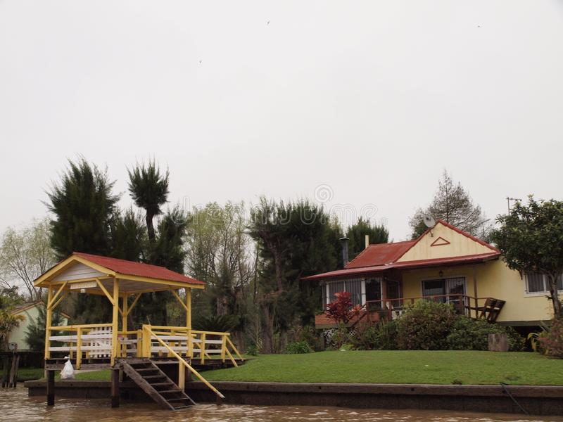 A holiday home in Tigre delta, Buenos Aires. royalty free stock image