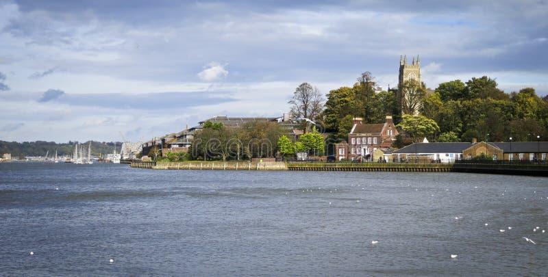 Rio Medway em Chatham fotos de stock royalty free