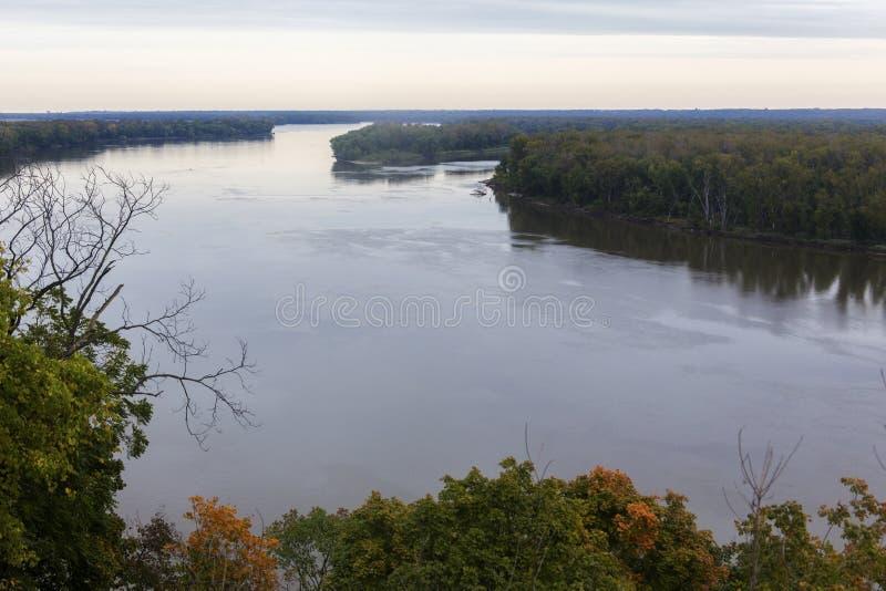 Rio Mississípi em Hannibal, Missouri fotografia de stock royalty free