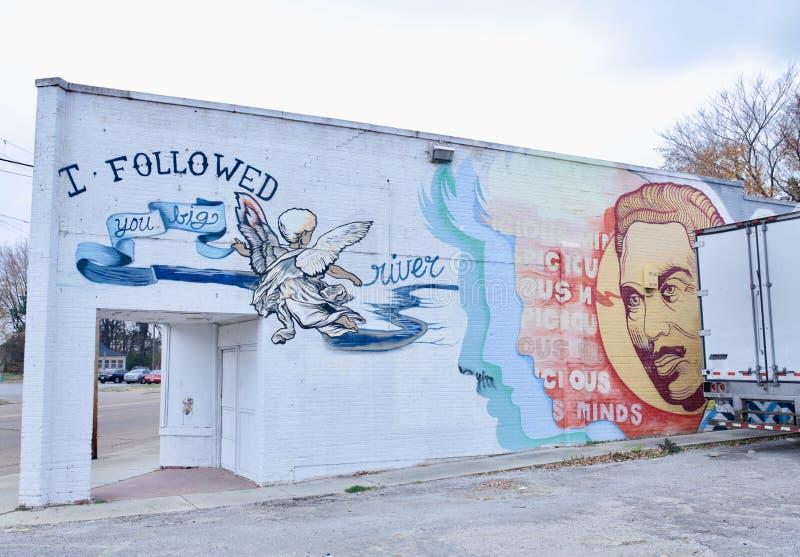 Rio Mississípi Paintin, Memphis, Tennessee imagem de stock royalty free