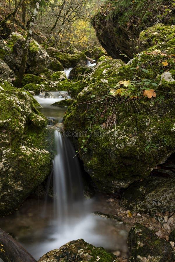 Rio Mundo-bron, Natuurreservaat Los Calares del rÃo Mundo y DE La Sima royalty-vrije stock fotografie