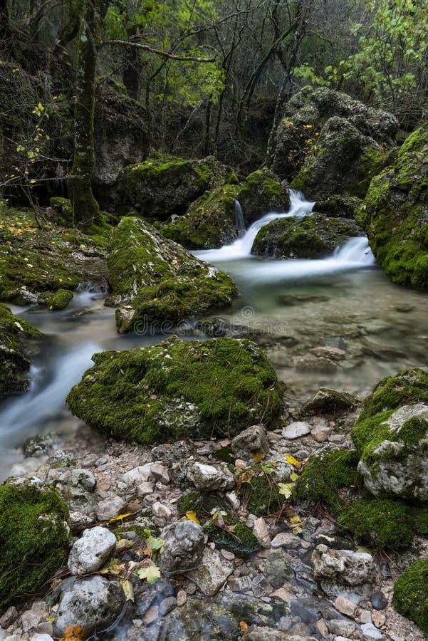 Rio Mundo-bron, Natuurreservaat Los Calares del rÃo Mundo y DE La Sima, Siërra DE Alcaraz y del Segura, Albacete provincie, stock foto's