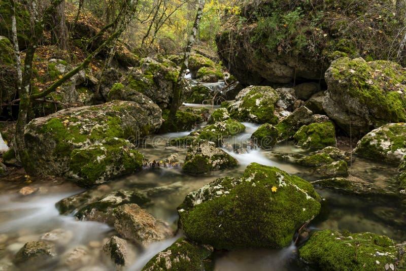 Rio Mundo source, Natural Park Los Calares del río Mundo y de la Sima. Rio Mundo source, Natural Park Los Calares del río Mundo y de la Sima, Sierra de stock images