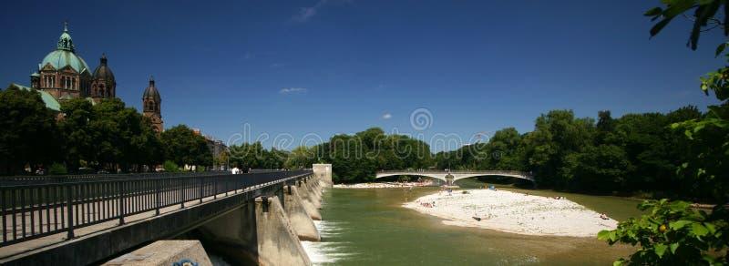 Rio Munich de Isar fotos de stock royalty free