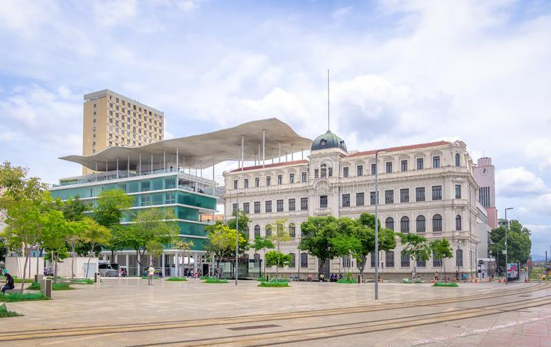 Rio Museum d'art - Museu de Arte faites Rio - MARS - à la place de Maua - Rio de Janeiro, Brésil photo libre de droits